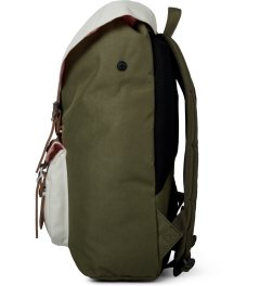 Herschel Supply Co. Army/Khaki  Little America Mid-Volume Backpack Model Picutre
