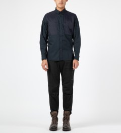 Penfield Black Howland Cuffed Utility Pants Model Picture