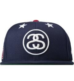 Stussy Navy 6 Stars Starter Snapback Cap Picture