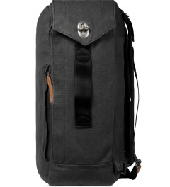 QWSTION Washed Black Backpack Model Picture