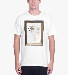 Stussy White World Tour Frame T-Shirt Model Picutre