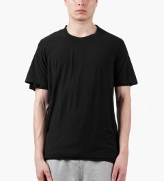 KRISVANASSCHE Black T-Shirt Model Picture