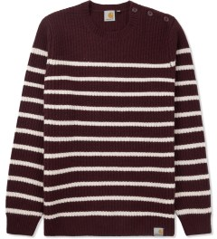 Carhartt WORK IN PROGRESS Bordeaux Sellers Stripe Sweater Picutre