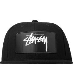 Stussy Black Lux Patch Snapback Cap Picutre