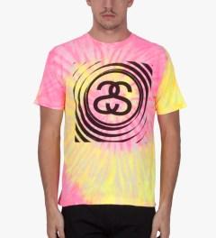 Stussy Pink Spiral SS Tie-dye T-Shirt Model Picutre