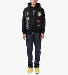 Undefeated Black Senior V Fleece Cardy Cardigan Model Picutre