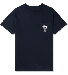 Stussy Navy World Tour S/S Pocket T-Shirt Picture