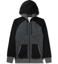 Reigning Champ Black RC-3268 Hybrid L/S Zip Front Hoodie Picture