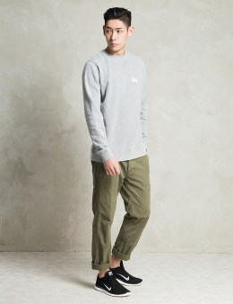 Stussy Grey Heather Basic Logo Sweater Picture