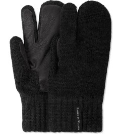Raised by Wolves Black Deerskin Palm Gloves Picture