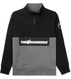 The Hundreds Black Dime Half-zip Sweater Picutre