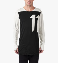 11 By Boris Bidjan Saberi White LS-1 T-Shirt Model Picutre