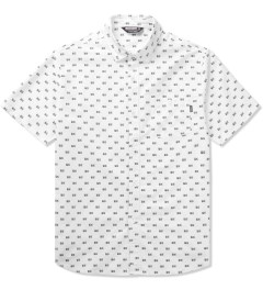 Undefeated White BS Button Up Shirt Picutre