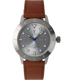 TRIWA Brown Sewn Classic Stirling Hvalen Watch Picture