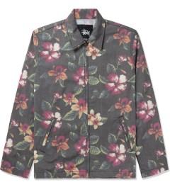 Stussy Black Vintage Flower Coach Jacket Picutre