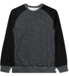 Reigning Champ Black RC-3269 Hybrid L/S Crewneck Sweater Picture