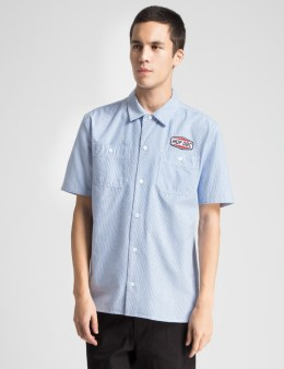 HUF Blue Gas Station Woven Shirt Picture