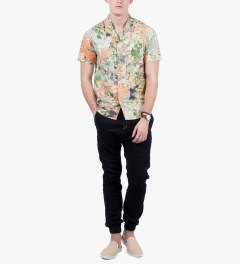 ALIFE Stoned Roses S/S Woven Shirt Model Picutre
