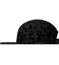 Stussy Black Flocked Leopard Camp Cap Model Picutre