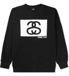 Stussy Black S/S Tribe Box Crew Sweater Picture