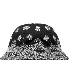 Black Scale Black Bandana Bucket Hat Picture