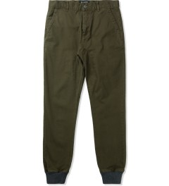 ZANEROBE Military Green Dynamo Chino Pants Picture