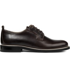 Carven Brown Pull Up Leather Shoes Picture