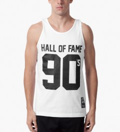 Hall of Fame White 90's Tank Top Model Picture