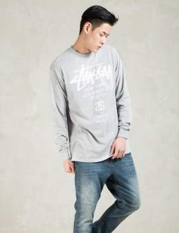 Stussy Grey Heather LS World Tour T-Shirt Picture