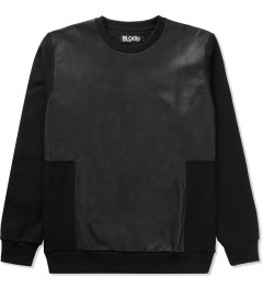 Blood Brother Black Vale Leather Sweater Picture