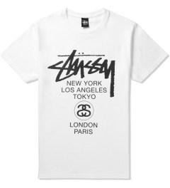 Stussy White World Tour T-Shirt Picutre