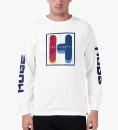 The Hundreds White Feel Ya L/S T-Shirt Model Picutre