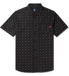 Stussy Black Hustler S/S Shirt Picutre