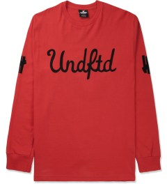 Undefeated Red 5 Script L/S T-Shirt Picture