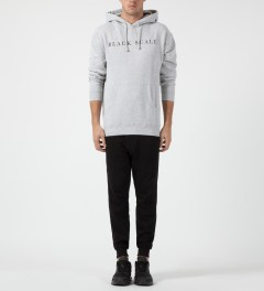 Black Scale Grey Left Hand Path Pullover Hoodie Model Picture