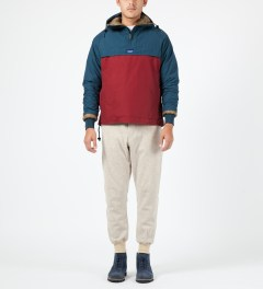 Penfield Petrol/Red ELK Pullover Hooded Anorak Model Picture