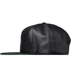 Undefeated Black Boss Leather Cap Model Picutre