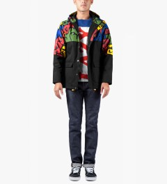 Lazy Oaf Multi/Black Oafetti Mac Jacket Model Picutre