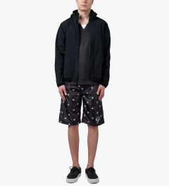 Reigning Champ Black RC-4032 Stow Away Hooded Zip Jacket Model Picture
