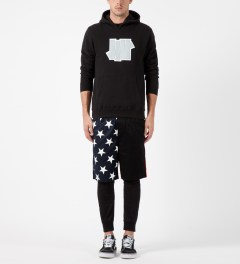 Publish Raised by Wolves x Publish Black Wren Enlarged Star Pattern Shorts Model Picture