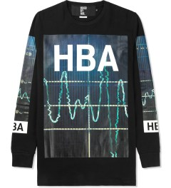 Hood By Air. Black Color Monitor L/S T-Shirt Picture