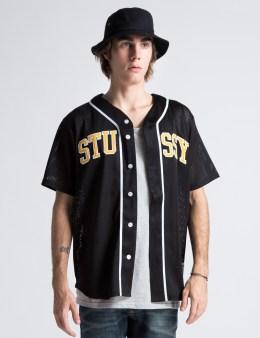 Stussy Black Mesh Baseball Top Picture