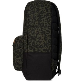 Carhartt WORK IN PROGRESS Cypress/Black Panther Print Miller Backpack Model Picutre