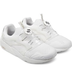 Puma White Trinomic Disc x Sophia CH Shoes Model Picture