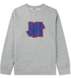 Undefeated Heather Grey Double 5 Strike Crew Sweater Picutre