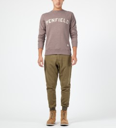 Penfield Russet Melange Brookport Crewneck Sweater Model Picture