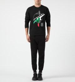 Black Scale Black RBG Revolution Crewneck Sweater Model Picture