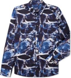 Études Studio Navy Poesie Marble Shirt Picutre
