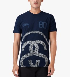 Stussy Navy Elephant Link T-Shirt Model Picture