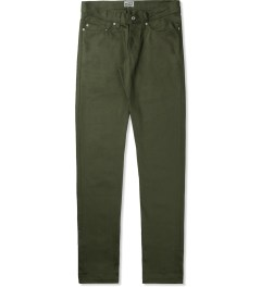 Naked & Famous Khaki Green WeirdGuy Selvedge Jeans Picutre